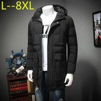 8XL 10XL Для мужчин зимняя куртка высокое качество холодной зимы пальто Для мужчин s Новая мода парка Повседневное с капюшоном хлопка ватник ут