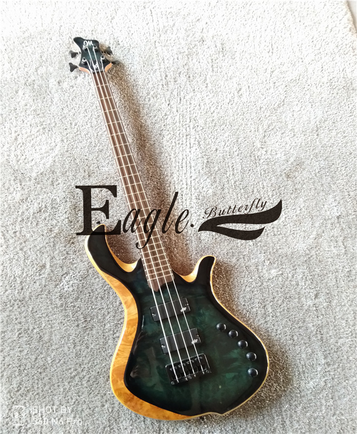 Eagle. Butterfly guitar bass Custom Shop. Four string bass  split link  electric bass  available in stock Electric Guitar     - title=