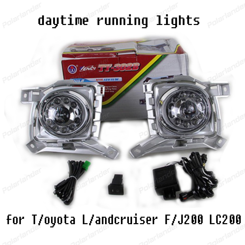 2017 NEW arrival car drl For T/oyota L/andcruiser F/J200 LC200 with fog cover 2012-2015 car styling daytiime running lights