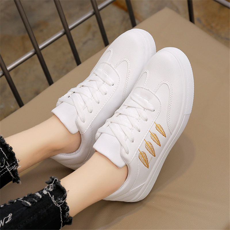Women Shoes 2018 Fashion Spring Pu Leather Flats Lace Up Ladies Shoes Woman Sneakers Tenis Feminino Casual Shoes Basket Femme
