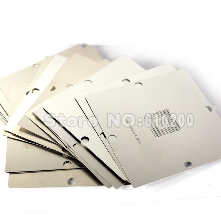 Free shipping 23pcs/set Stainless Steel BGA Reballing Stencil BGA Reballing Kit for game machine XBOX PS3 CXD WII GPU CPU Repair цена