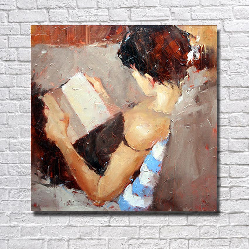 Beautiful Girl Wall Picture Nightdress Girl Modern Art Large Cheap Wall Painting For Living Room Decoration
