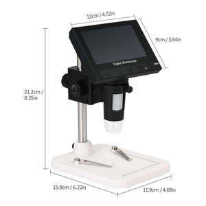Image 4 - Usb Microscopio Elettronico Digitale 1000x2.0mp Dm4 Display Lcd Da 4.3 Pollici Vga Microscopio Stand Con 8 Led Per pcb Circuito di Motherb