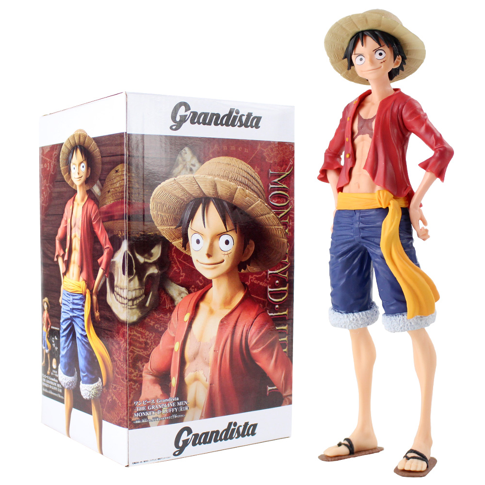 27cm Grandista One Piece Monkey D Luffy Figure Toy Grandline Men Luffy Anime Collectible Model Dolls(China)