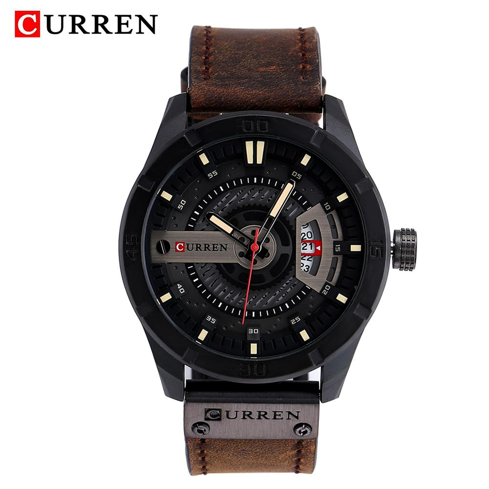 CURREN 8301 Men Date Display Leather Creative Quartz Wrist Watches Top Brand Sport Waterproof Watch For Male все цены