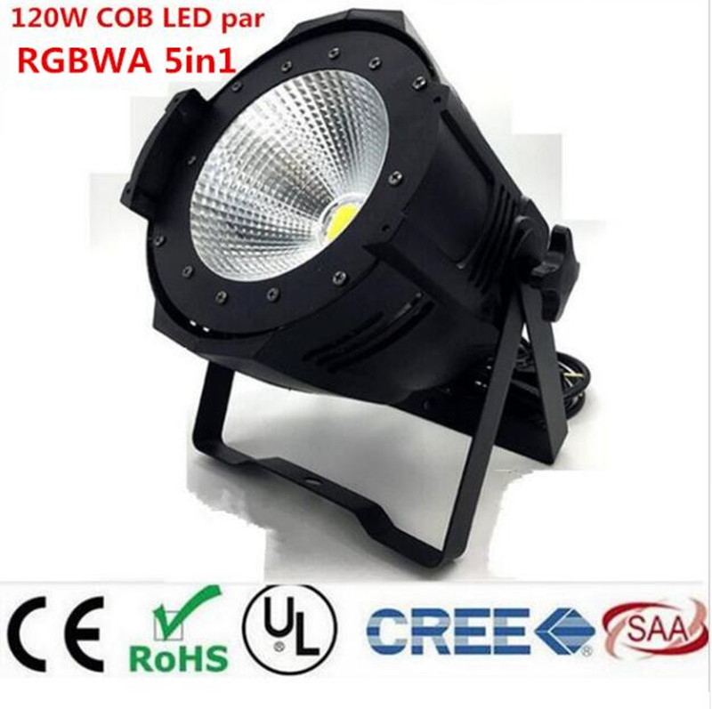 LED par 120W COB RGBWA 5in1/RGBW 4in1/RGB 3in1/ Warm White Cold white UV LED Par Par64 led spotlight dj light Dmx controll цена