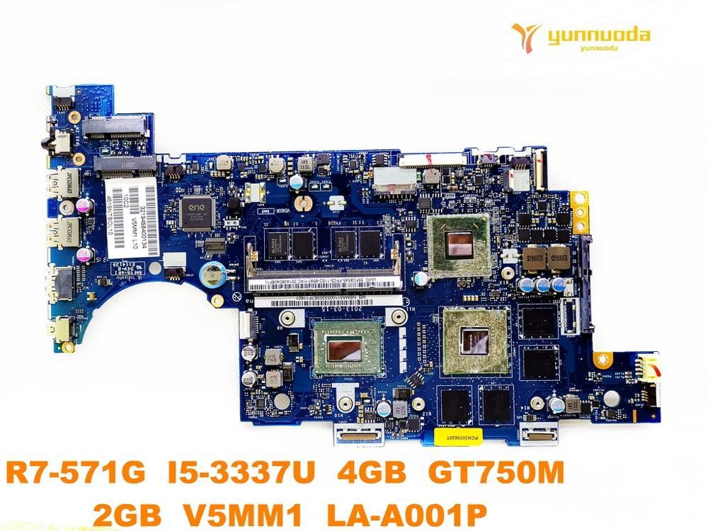 Original for font b ACER b font R7 571G laptop motherboard R7 571G I5 3337U 4GB
