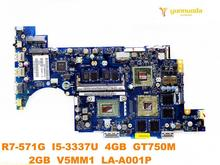 Original for ACER R7-571G laptop motherboard R7-571G I5-3337U 4GB GT750M 2GB V5MM1 LA-A001P tested good free shipping