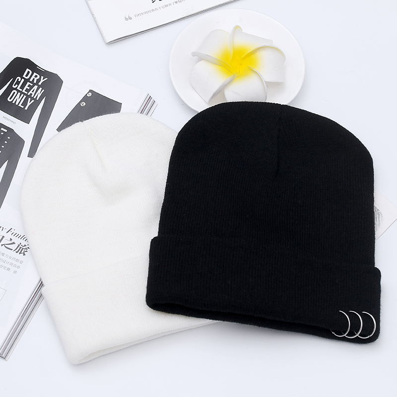 New Fashion Hoop Skullies Beanies Women Hat Knit Hat Female Cap Man Winter Hat For Women Beanie Unisex Pure Color Headgear  2016 fashion skullies beanies women hat knit hat female cap man winter hat for women beanie unisex pure color headgear