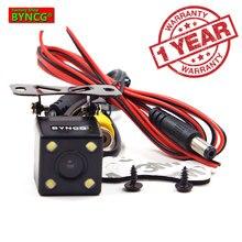 BYNCG WG1 170 градусов 4 светодиодный фонарь ночного видения автомобильная парковочная камера заднего вида Реверсивный резервный водонепроницаемый HD CCD Датчик