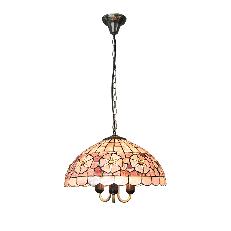 16-inch Tiffany Style Stained Glass Pendant Lights E26/E27 Bulbs Tiffanylampe European Flowers Lighting Lamp Hanging Decor PL810 pastoral tiffany glass pendant lights latin american colorful tiffany lighting lamp mediterranean hanging glass lamp cover lampe