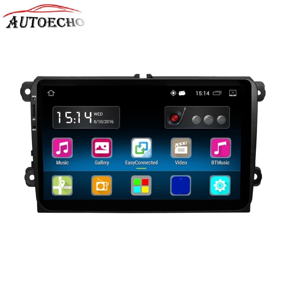 Lecteur stéréo autoradio 9 pouces navigation GPS intelligente lecteur MP3/MP4 CD DVD pour VW Passat Golf MK5 MK6 Jetta T5 EOS POLO
