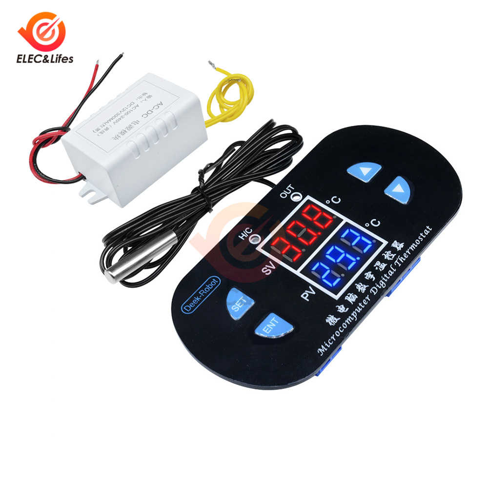 AC 220V 10A LED Digitale Temperatuur Controller Incubator Schakelaar Verstelbare Thermostaat Regulator DK-W1308 Temp Sensor NTC