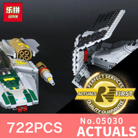 LEPIN 05030 722Pcs Star Wars Vader Tie Advanced VS A Wing Starfighter 75150 Building Blocks Compatible