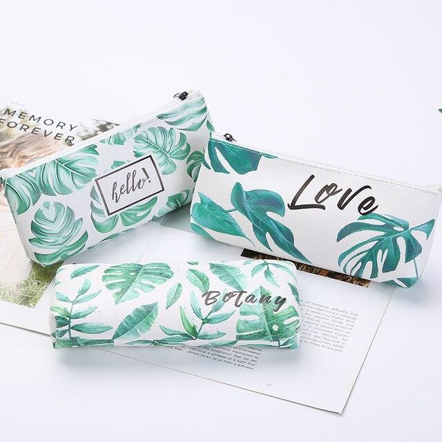 Estuche de lápices Kawaii tortuga hoja regalo Estuches escuela caja de lápices lápiz Bolsa Escolar suministros de papelería
