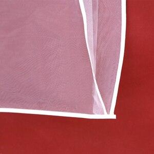 Image 5 - 2 Mặt Trong Suốt Voan Pha Lê Sợi Cưới Đầm Cô Dâu Bụi Có Dây Kéo Cho Gia Đình Tủ Quần Áo Váy Bầu Túi Bảo Quản AC018