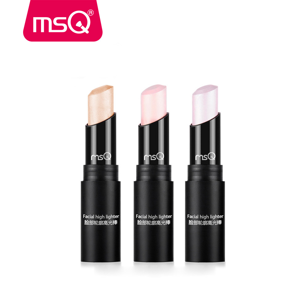 MSQ 3 Color Face Contouring Makeup Bronzer Shimmer Stick Highlighter - Smink