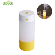 LEDGLE Cool Mist Humidifier Portable Air Humidifier USB Powered Car Humidifiers with Auto-off Function Light Yellow and Blue