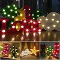 Led 3d de Luz Nocturna de Navidad Luces Lámpara de Noche de Interior 3d Llevó la Lámpara Flamingo Piña Cactus Lamparita de Luz de Noche Romántica