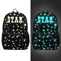 2017 Moda Luminoso Mochilas Para Adolescentes Mochila Portátil de Viaje Oxford Estrellas Impresión Mochila Escolar mochila Mochila Escolar