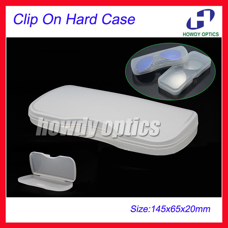 20pcs PVC Frosted Hard case for Frog Glasses Eyeglasses Sunglass Clip On Sunglasses Case Box 14