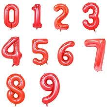 Playguys 16 Inches 1Pc Rood Birthday Party Decoratie Volwassen 0-9 Aantal Ballonnen Voor Kerst Bruiloft Gunst Baby douche