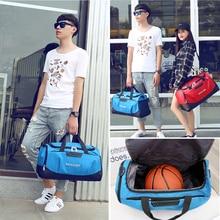 купить Professional Waterproof Large Sports Gym Bag with Shoes Pocket Men/Women Outdoor Fitness Training Duffle Bag Travel Yoga Handbag онлайн