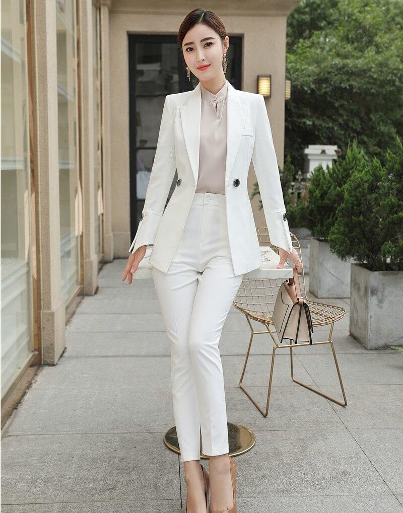 Styles Blazer Femmes Dames Pantalon Uniforme Costumes Bureau Rouge Noir Work Ensembles Ol corail Veste Mode Wear Noir D'affaires Casual blanc Et wgt4Z