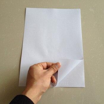 5 hojas blanco A4 PVC mate autoadhesivo impermeable Papel de impresora a prueba de aceite para impresora láser