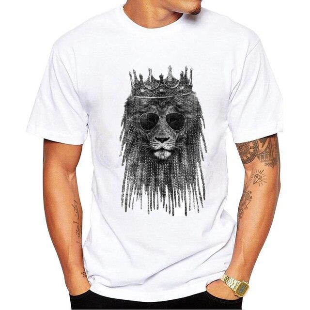 e27c6f0c Summer Men T-Shirts Funny lion king Printed T Shirt Fashion Novelty Short  Sleeve Tee Tops Homme O-neck Men Tee Shirts