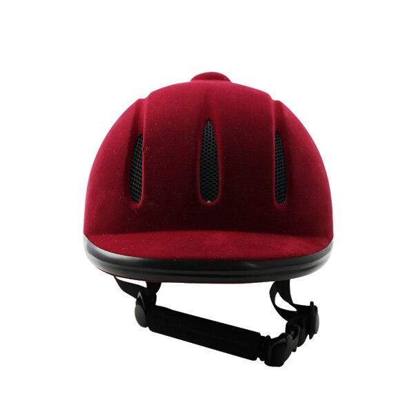 CE approuve le casque équestre de troupeau rouge et noir de vin pour l'équitation casquette de haute qualité