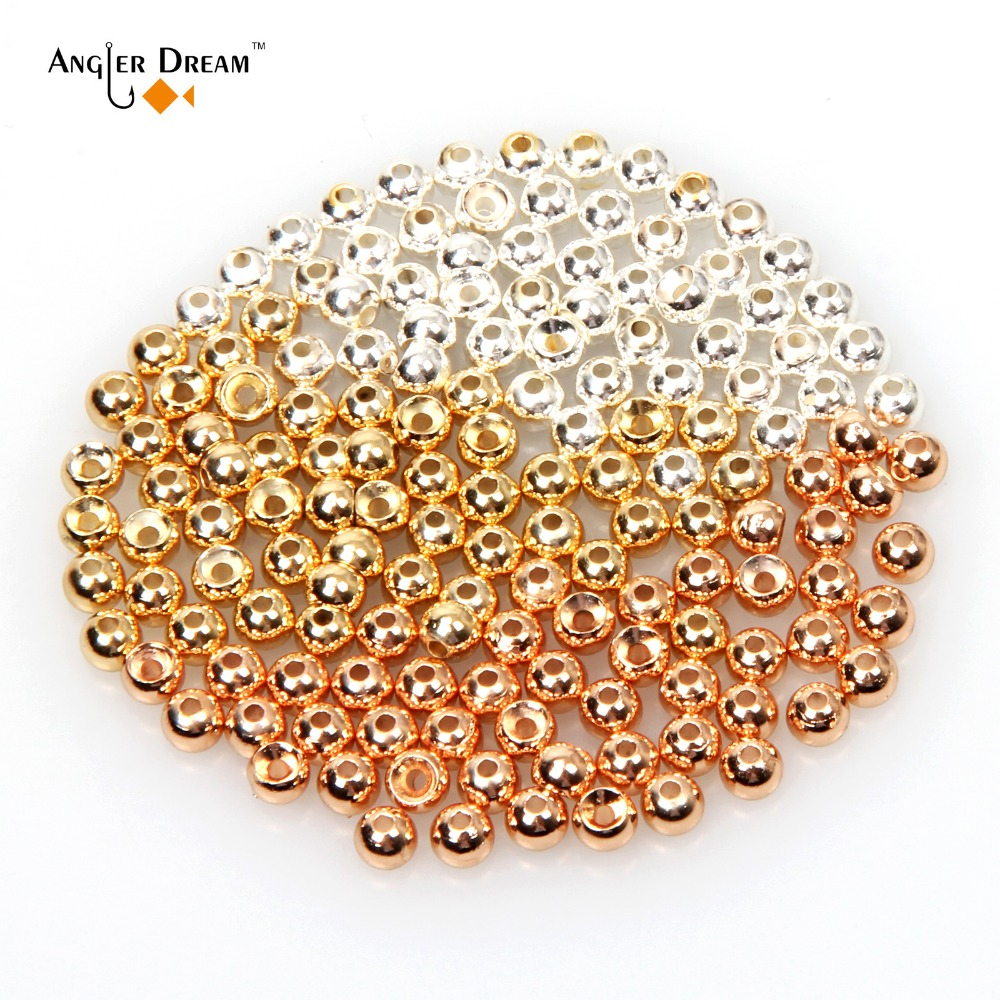 Gold Kupfer Silber Wolfram Fliegenbinden Perlen Fliegenfischen Nymph Kopf Ball 50 teile/los Fliegenfischen Wolfram Wulst