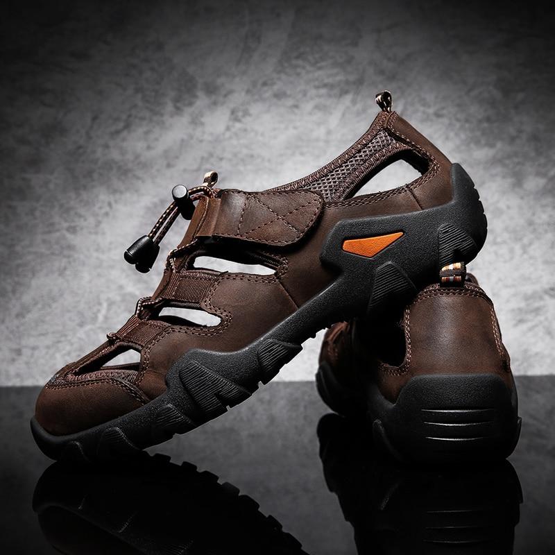 ZUNYU Casual Soft Sandals Genuine Leather Men Shoes Summer New Large Size 38-48 Man Sandals Fashion Men Sandals Sandals Slippers