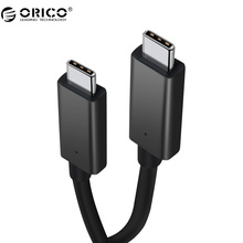 ORICO USB3.1 GEN2 10Gbps With E-mark Data Cable 100W Power Type-C To Type-C Charging Cable Data Transmission 50CM Length