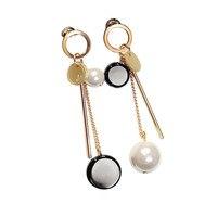 Korea Temperament Female Long Tassel Earrings Earrings Earrings Exaggerated Retro Asymmetric Ear Jewelry Korean Jewelry
