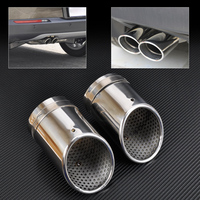 DWCX 2X STAINLESS STEEL EXHAUST TAIL REAR MUFFLER TIP PIPE TAILPIPE For VW Passat B6 2006 2009 2010 Passat CC Free Shipping