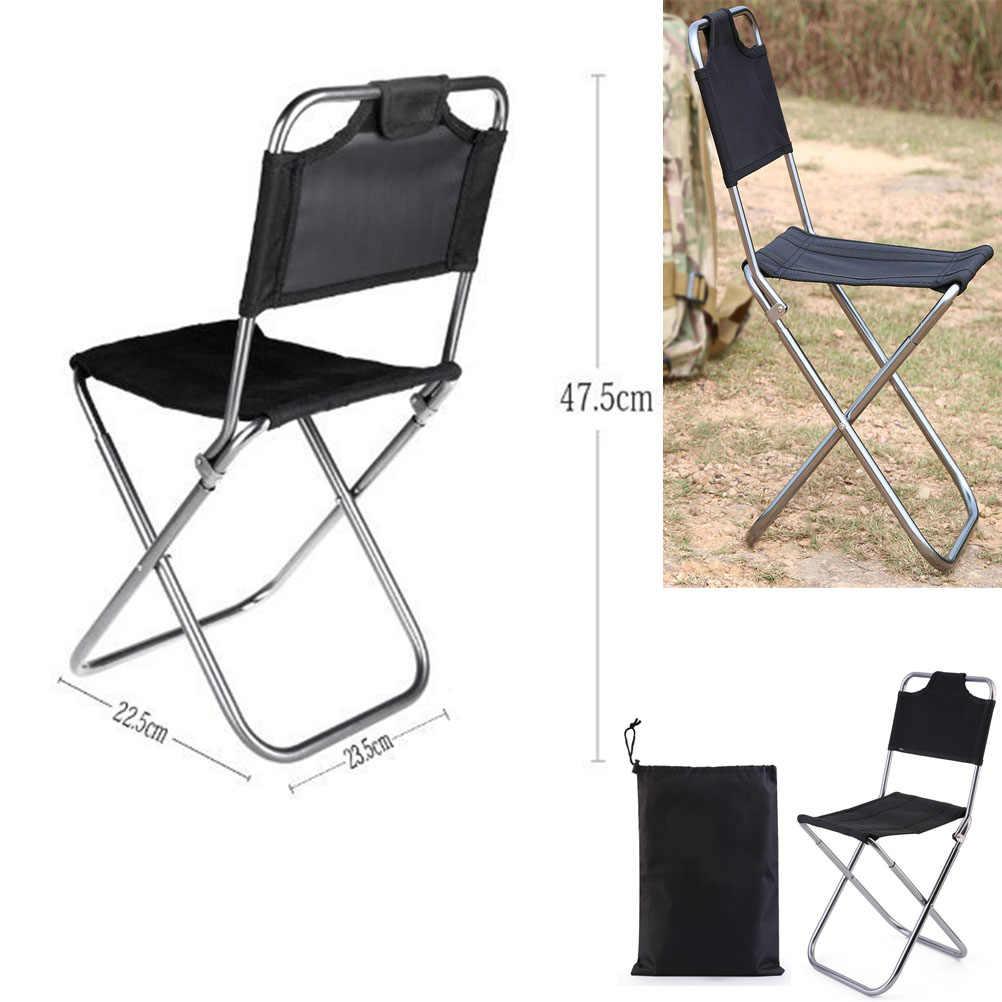 Складной туристический стул из алюминиевого сплава со спинкой, легкие складные стулья для отдыха, табурет для дома/кемпинга/путешествий