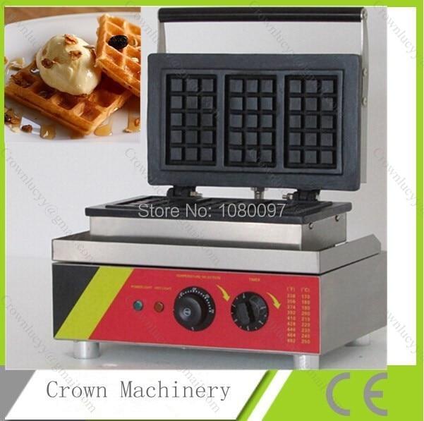 Electric 3pcs rectangle Waffle maker iron;waffle maker