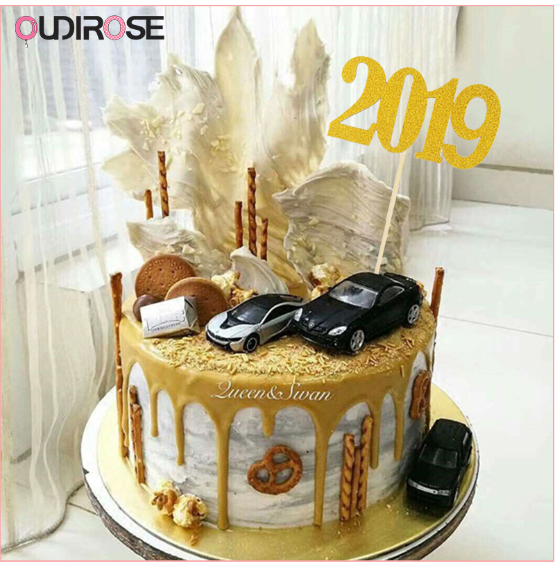 Detail Feedback Questions About Numeral 2019 Cake Topper Happy