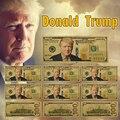 Trump ouro chapeado dinheiro falso 10 pces original américa um milhão de dólares notas de papel dinheiro presentes do negócio para o natal