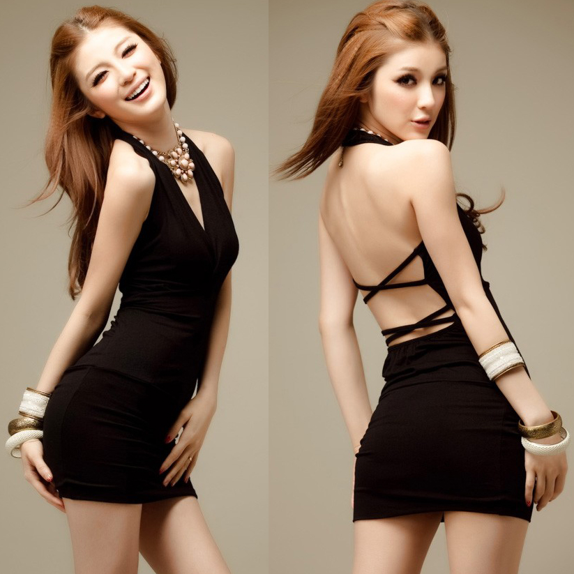 Free Shipping 2014 Women Dress Slutty Slim Tube At The Top -8107