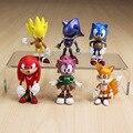 6 pçs/set 7 cm sega sonic the hedgehog brinquedo pvc figuras brinquedo personagens do sonic figura toy frete grátis