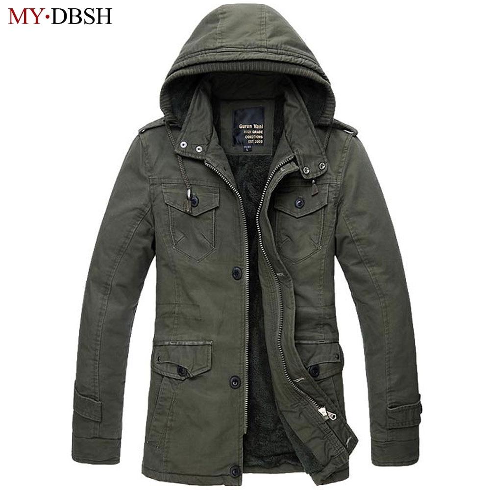 MYDBSH marca de alta calidad negro caqui ejército verde bombardero chaqueta hombres otoño abrigos más tamaño S 6XL chaqueta de piel sintética militar los hombres-in Parkas from Ropa de hombre    1