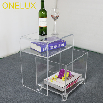Waterfall Clear acrylic nightstand with a storage basket,Lucite bathroom tables fixture displays clear acrylic lucite podium pulpit lectern 45 tall