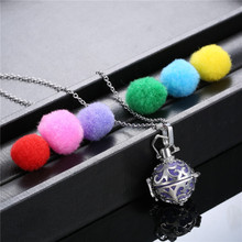 Round Aromatherapy Jewelry Ball Pendant Necklace Perfume Essential Oil Diffuser Locket For Women