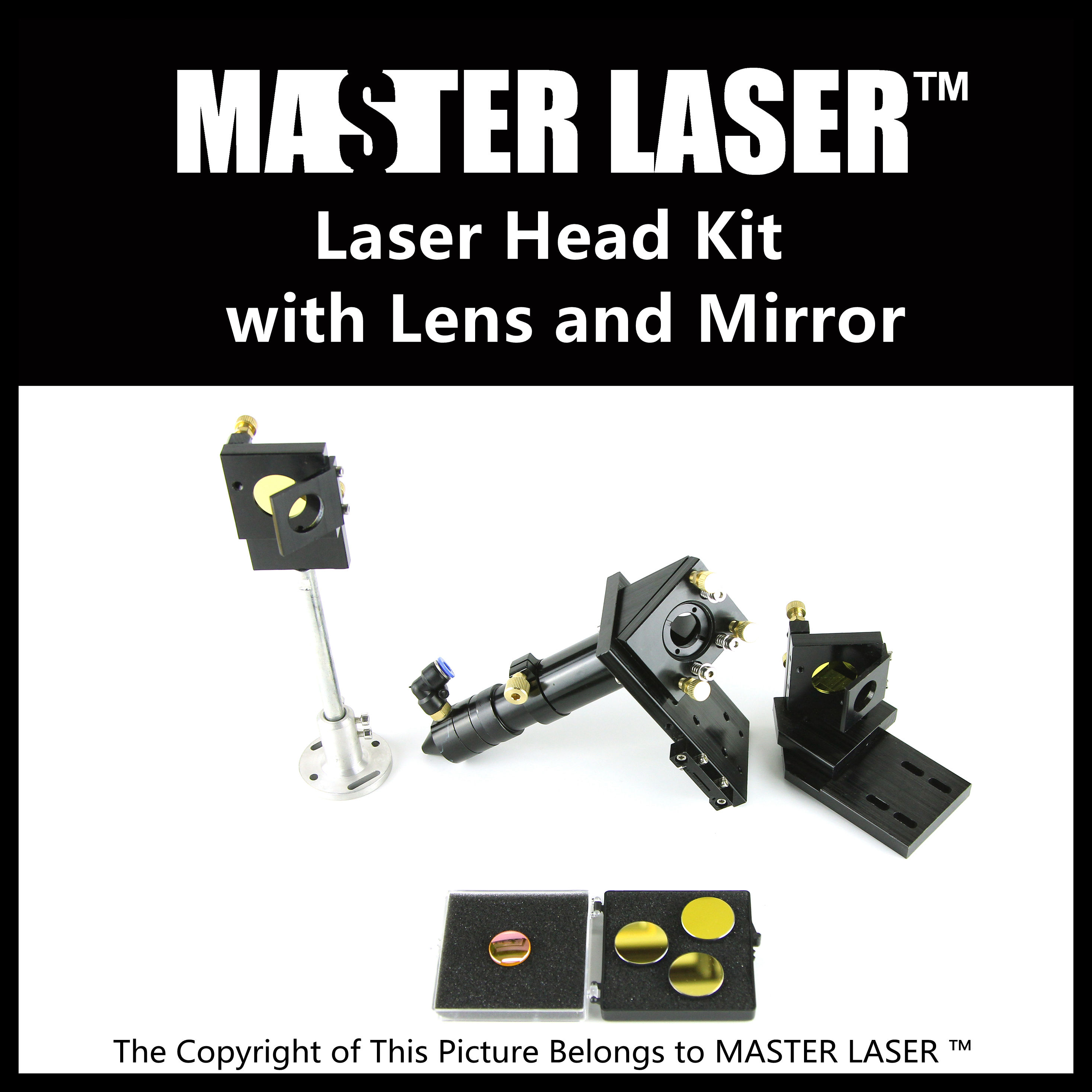 Best Quality Laser Mounts for CO2 Laser Cuting Machine  Laser Cutting Head Mirror Mount Reflect Mirror and Focus Lens Kit co2 laser head mirror and lens integrative mount laser cutting engraving