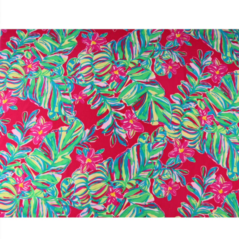 Leaf Printed  Silk Crepe De Chine Fabric For Summer Shirt and dressLeaf Printed  Silk Crepe De Chine Fabric For Summer Shirt and dress