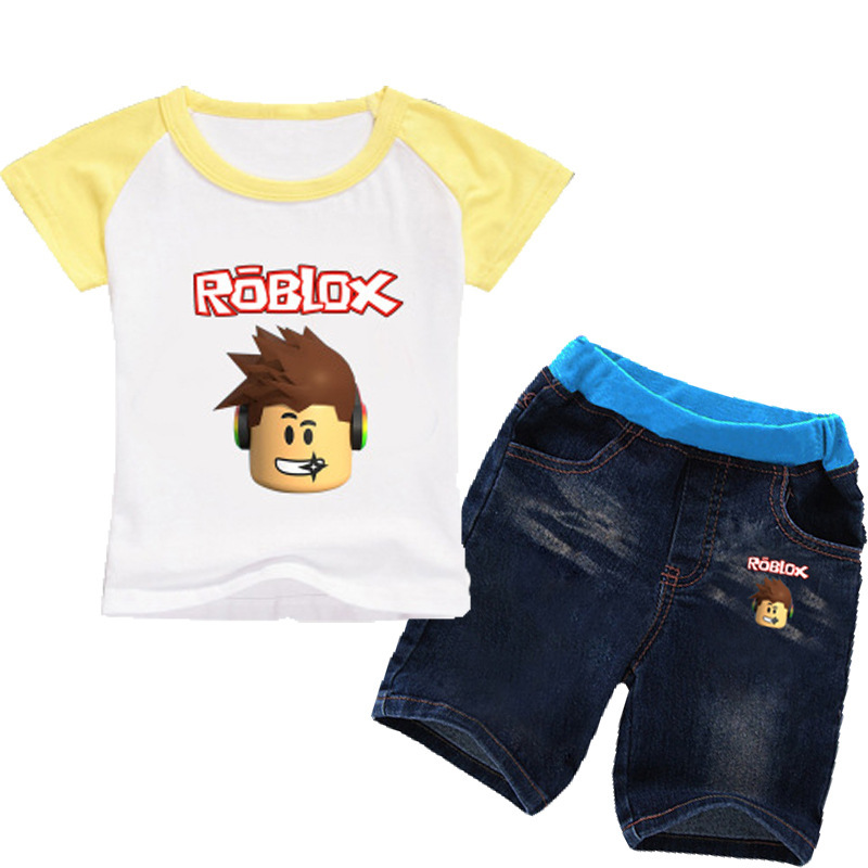 Us 799 Game Roblox Character Kids Clothes Cartoon T Shirts Tees Jeans Shorts 2pcs Sets Boy Girls Clothing Teenager Shirt Costume In Clothing Sets
