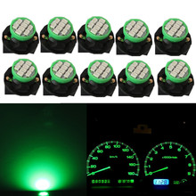 WLJH 10pcs T10 W5W 194 Wedge LED Light Bulb Car Dashboard Instrument Cluster Bulb Speedometer Odometer Dash Gauges Lighting scooter parts speedometer gauges cluster tacho odometer for kawasaki zrx400 zrx750 zrx1100 kmh 260 free shipping