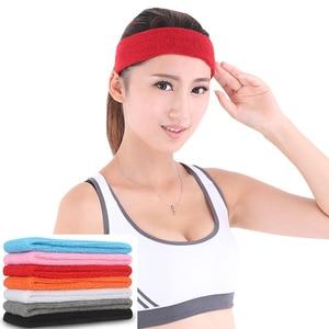 Breathable Headband Sweatband Absorbing Sweat Hair Head Band Elasticity Unisex for Yoga Running Basketball Cycling